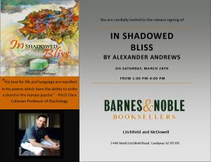 In Shadowed Bliss Barnes and Noble flyer